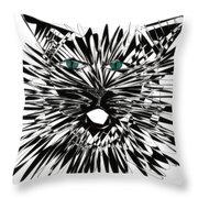 Cat Iwan Throw Pillow