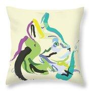Cat Lisa Throw Pillow