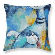 Cat Mommy Throw Pillow