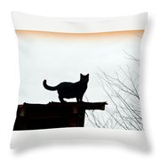 Cat On A Tin Roof 2 Throw Pillow