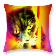 You Can Come And Visit The Cat People Throw Pillow