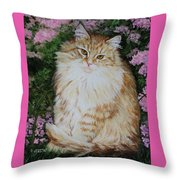 Kitten Cat Painting Perfect For Child's Room Art Throw Pillow
