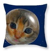 Cat Planet Throw Pillow
