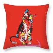 Cat Prins Throw Pillow
