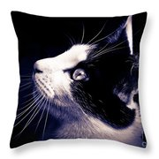 Cat Profile Throw Pillow