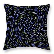 Cat Tail Swirl Throw Pillow