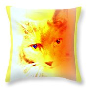 Fall In Love With The Cat Woman Throw Pillow