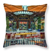 Catal Outdoor Cafe Downtown Disneyland 01 Throw Pillow