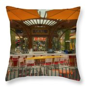 Catal Outdoor Cafe Downtown Disneyland 02 Throw Pillow
