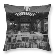 Catal Outdoor Cafe Downtown Disneyland Bw Throw Pillow
