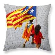 Catalan National Day 2014 Throw Pillow