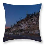 Catalina Highway Twilight Throw Pillow