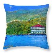 Catalina Island Night Throw Pillow