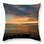 Catalina Island Sunset Throw Pillow
