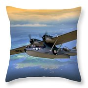 Catalina Over Islands Throw Pillow