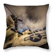 Catalina Pby-5a Miss Pick Up Low Angle Throw Pillow