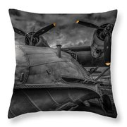 Catalina Pby-5a Miss Pick Up Mono Throw Pillow