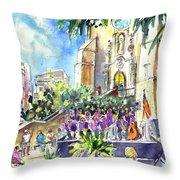 Catalonia Day In Llansa Throw Pillow