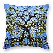Catalpa Tree Throw Pillow