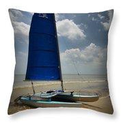 Catamaran Throw Pillow