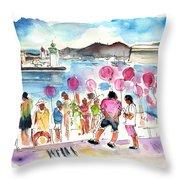 Catamaran Party In Cartagena Throw Pillow