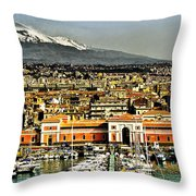 Catania Sicily Throw Pillow