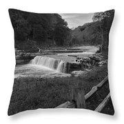 Cataract Falls Indiana Black N White Throw Pillow