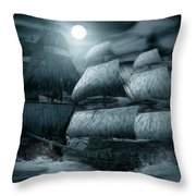 Catastrophic Collision  Throw Pillow