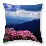 Catawba Rhododendron In Bloom, Yellow Throw Pillow