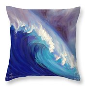 Catch Another Wave Throw Pillow