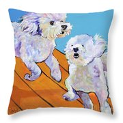 Catch Me     Throw Pillow by Pat Saunders-White