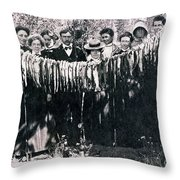 Catch Of The Day 1901 Throw Pillow