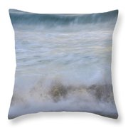 Catch The Waves Throw Pillow