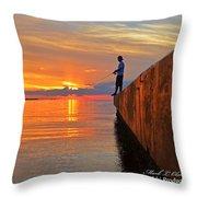 Catching A Navarre Sunset Throw Pillow