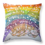 Catching A Rainbbow Throw Pillow