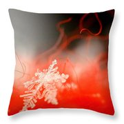 Catching A Snowflake Throw Pillow