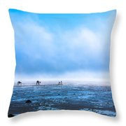 Catching Blue Throw Pillow