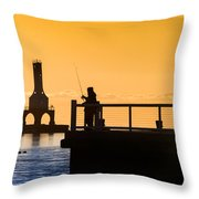 Catching Gold Throw Pillow