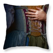 Catching Her Breath Throw Pillow