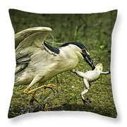 Catching Supper Throw Pillow