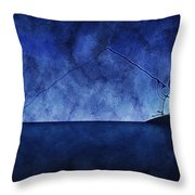 Catching The Moon Under Water Throw Pillow