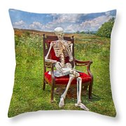 Catching Up On Human Anatomy And Physiology Throw Pillow