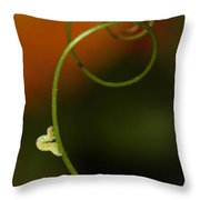 Caterpillar And Curly Branch Throw Pillow