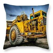 Caterpillar Cat 623f Scraper Throw Pillow