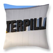 Caterpillar Sign Picture Throw Pillow by Paul Velgos