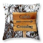 Catfish Crossing Throw Pillow