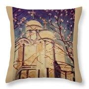 Cathedral At Springtime Throw Pillow