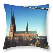 Cathedral At Uppsala Throw Pillow