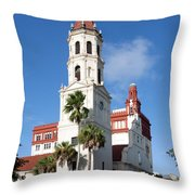 Cathedral Basilica Of St. Augustine Throw Pillow