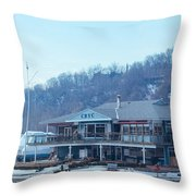 Cathedral Bluffs Yacht Club At Toronto Throw Pillow